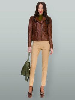 Кожаная куртка кожа овца, цвет коричневый, арт. 07700104  - цена 11192 руб.  - магазин TOTOGROUP