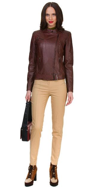 Кожаная куртка кожа овца, цвет коричневый, арт. 07700114  - цена 13990 руб.  - магазин TOTOGROUP