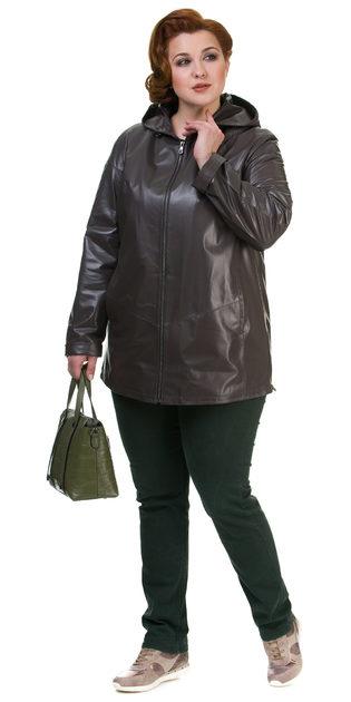 Кожаная куртка кожа баран, цвет коричневый, арт. 07700144  - цена 19990 руб.  - магазин TOTOGROUP