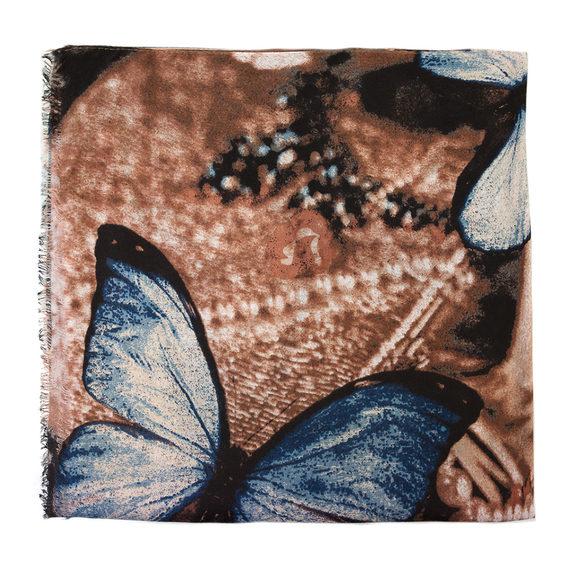Шарф 30%бамбук,70%хлопок, цвет коричневый, арт. 07700232  - цена 390 руб.  - магазин TOTOGROUP