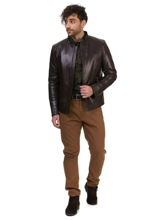 Кожаная куртка кожа , цвет коричневый, арт. 07700414  - цена 14990 руб.  - магазин TOTOGROUP