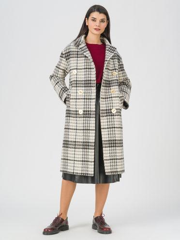 Текстильное пальто 35% шерсть, 65% полиэстер, цвет коричневый, арт. 07711390  - цена 5890 руб.  - магазин TOTOGROUP