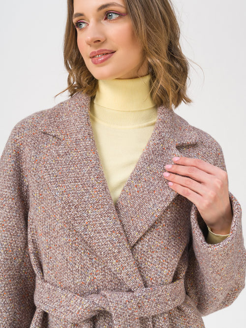Текстильное пальто артикул 07711408/42 - фото 2