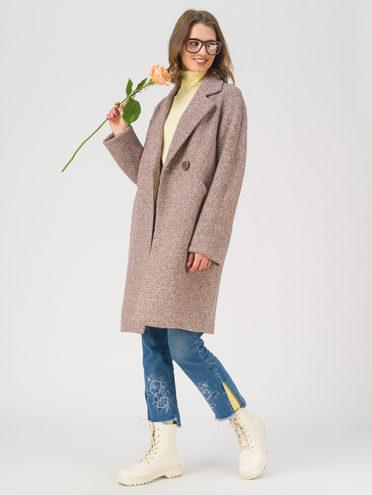 Текстильное пальто 35% шерсть, 65% полиэстер, цвет коричневый, арт. 07711408  - цена 7990 руб.  - магазин TOTOGROUP