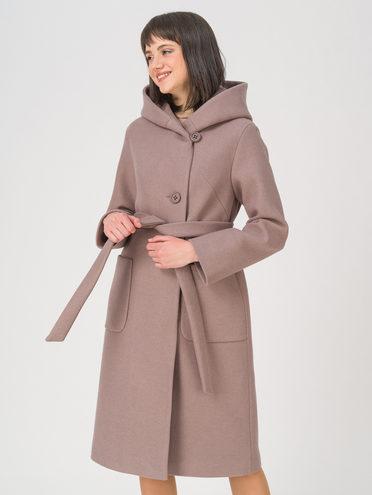 Текстильное пальто 35% шерсть, 65% полиэстер, цвет коричневый, арт. 07711411  - цена 7490 руб.  - магазин TOTOGROUP