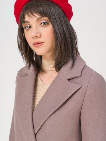 Текстильное пальто 35% шерсть, 65% полиэстер, цвет коричневый, арт. 07711414  - цена 6990 руб.  - магазин TOTOGROUP