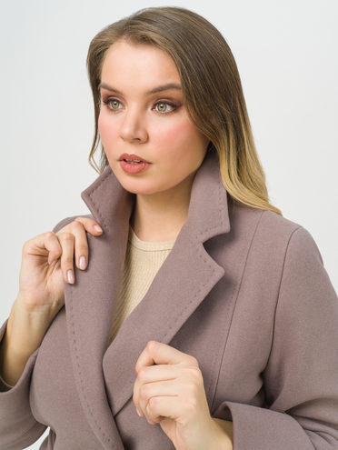Текстильное пальто 35% шерсть, 65% полиэстер, цвет коричневый, арт. 07711417  - цена 7990 руб.  - магазин TOTOGROUP
