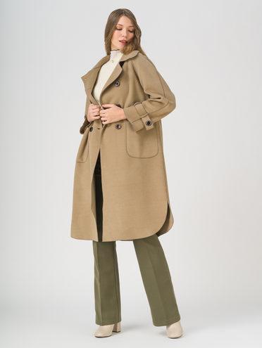 Текстильное пальто 35% шерсть, 65% полиэстер, цвет коричневый, арт. 07711421  - цена 6630 руб.  - магазин TOTOGROUP