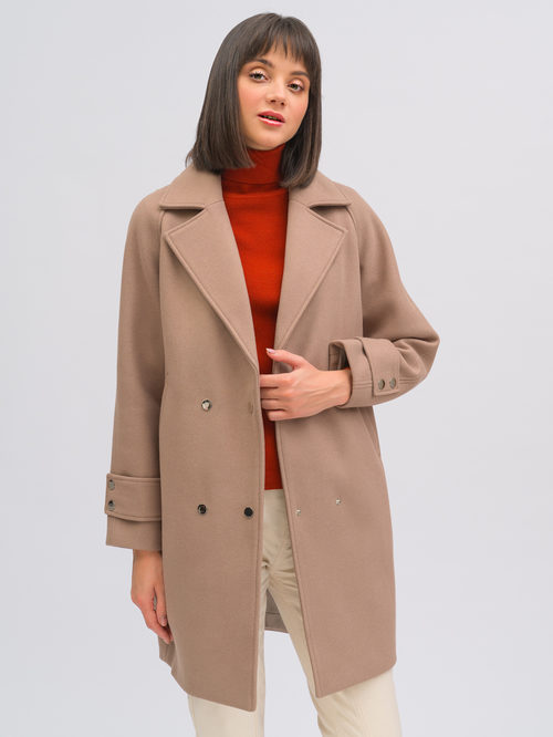 Текстильное пальто артикул 07719896/40 - фото 2
