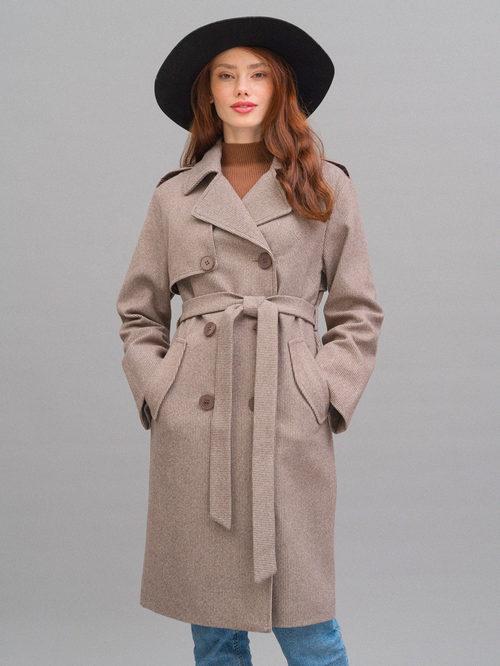 Текстильное пальто артикул 07719964/42 - фото 3