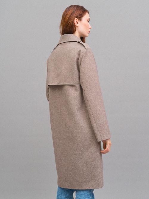Текстильное пальто артикул 07719964/42 - фото 5