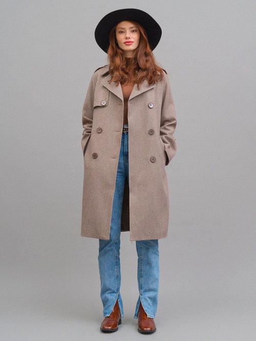 Текстильное пальто артикул 07719964/42