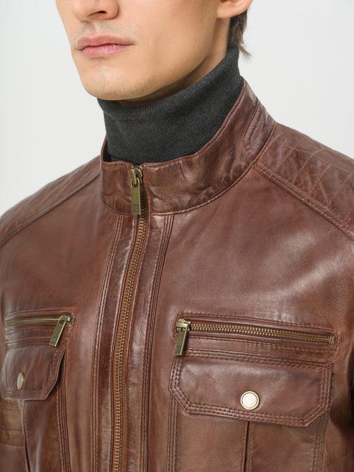 Кожаная куртка артикул 07809217/50 - фото 4