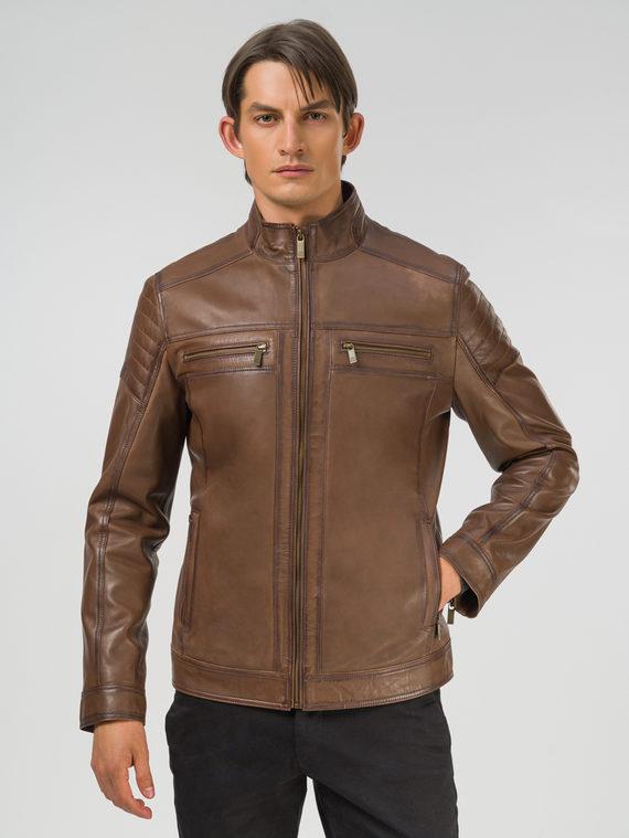 Кожаная куртка кожа, цвет коричневый, арт. 07809231  - цена 13390 руб.  - магазин TOTOGROUP