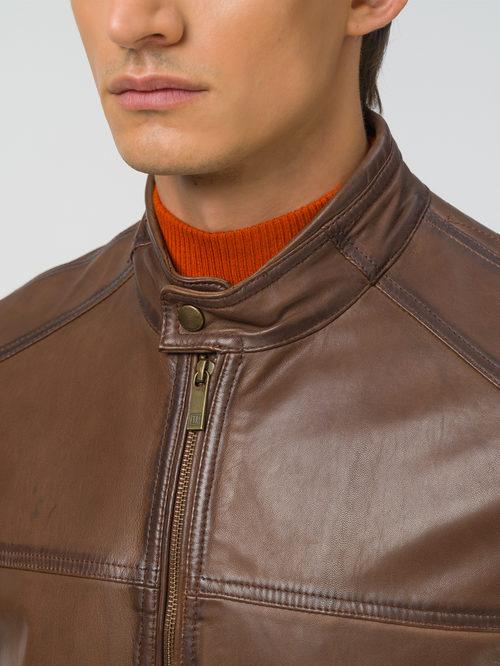 Кожаная куртка артикул 07809232/46 - фото 3