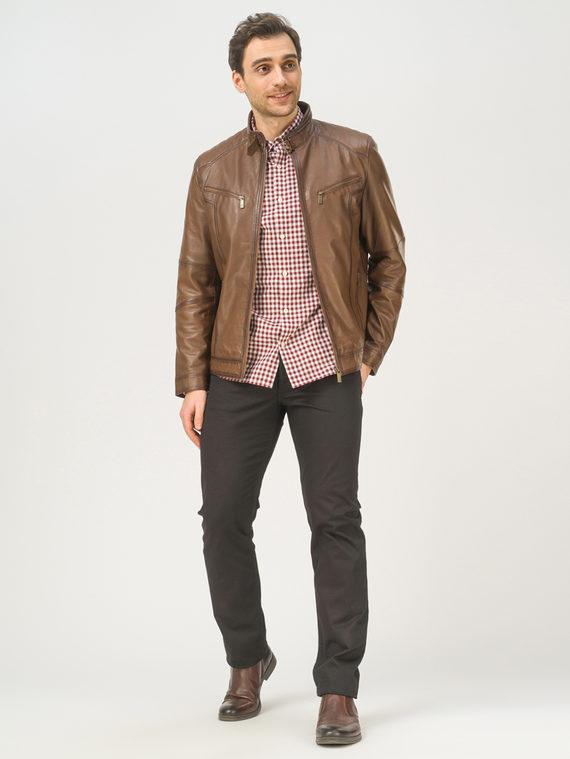 Кожаная куртка кожа, цвет коричневый, арт. 07809233  - цена 9990 руб.  - магазин TOTOGROUP