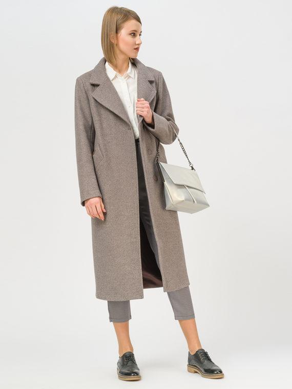 Текстильное пальто 35% шерсть, 65% полиэстер, цвет коричневый, арт. 07809983  - цена 6990 руб.  - магазин TOTOGROUP