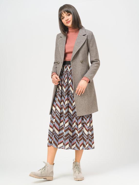 Текстильное пальто 35% шерсть, 65% полиэстер, цвет коричневый, арт. 07809986  - цена 6290 руб.  - магазин TOTOGROUP