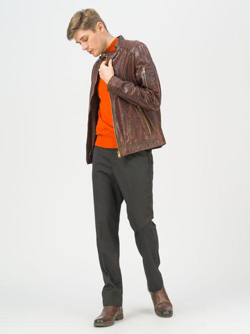 Кожаная куртка артикул 07809989/48 - фото 3