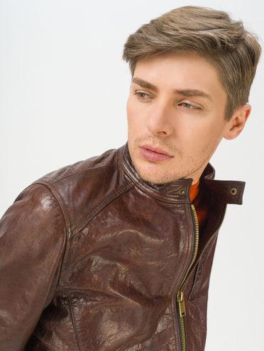 Кожаная куртка кожа, цвет коричневый, арт. 07809989  - цена 14990 руб.  - магазин TOTOGROUP