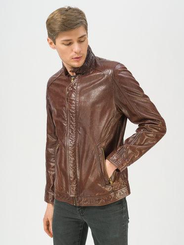 Кожаная куртка кожа, цвет коричневый, арт. 07809990  - цена 14990 руб.  - магазин TOTOGROUP