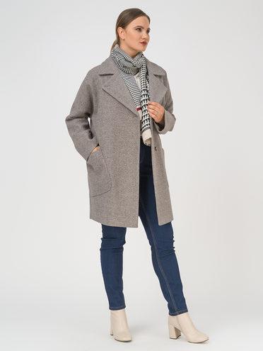 Текстильное пальто 35% шерсть, 65% полиэстер, цвет коричневый, арт. 07809993  - цена 5890 руб.  - магазин TOTOGROUP