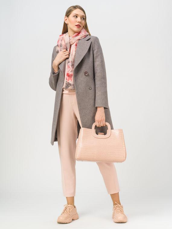 Текстильное пальто 35% шерсть, 65% полиэстер, цвет коричневый, арт. 07810042  - цена 6630 руб.  - магазин TOTOGROUP