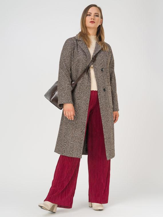 Текстильное пальто 35% шерсть, 65% полиэстер, цвет коричневый, арт. 07810100  - цена 6990 руб.  - магазин TOTOGROUP