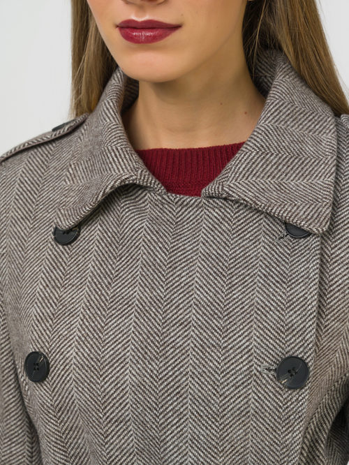 Текстильное пальто артикул 07810113/46 - фото 3