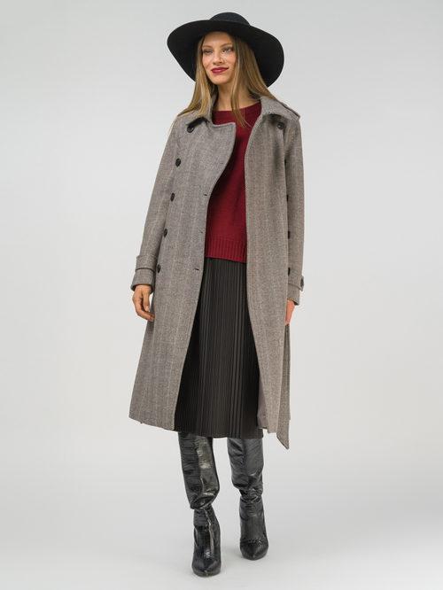 Текстильное пальто артикул 07810113/46
