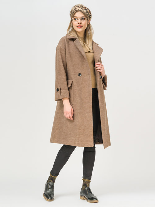 Текстильное пальто артикул 07810115/48