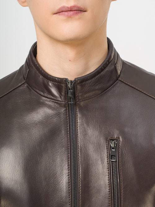 Кожаная куртка артикул 07810169/46 - фото 4