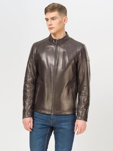 Кожаная куртка кожа, цвет коричневый, арт. 07810169  - цена 21290 руб.  - магазин TOTOGROUP