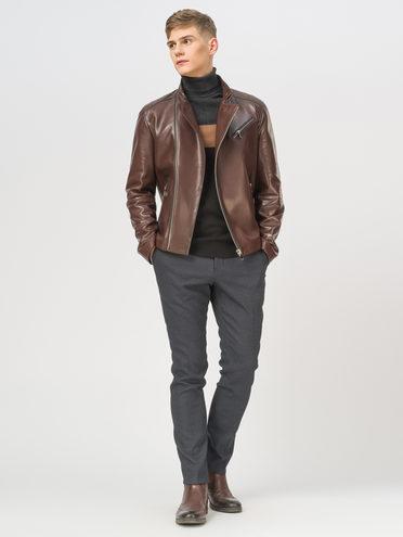 Кожаная куртка кожа баран, цвет коричневый, арт. 07810190  - цена 14190 руб.  - магазин TOTOGROUP