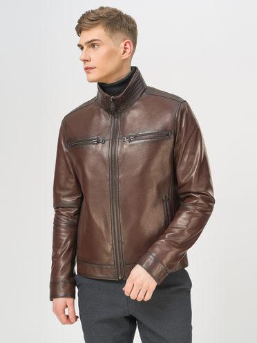 Кожаная куртка кожа баран, цвет коричневый, арт. 07810191  - цена 16990 руб.  - магазин TOTOGROUP