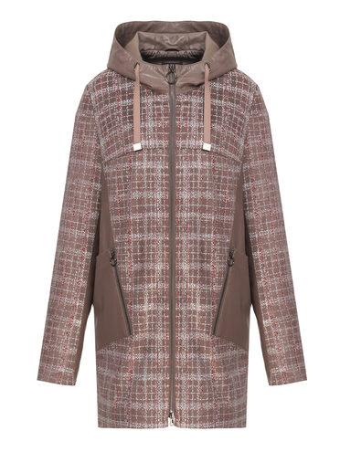 Кожаное пальто эко-замша 100% П/А, цвет коричневый, арт. 07810197  - цена 5890 руб.  - магазин TOTOGROUP