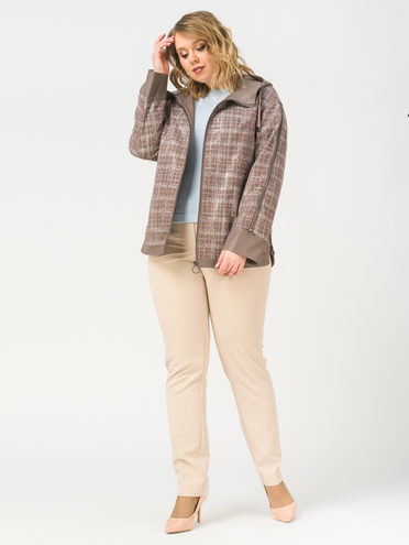 Кожаная куртка эко-замша 100% П/А, цвет коричневый, арт. 07810199  - цена 6630 руб.  - магазин TOTOGROUP