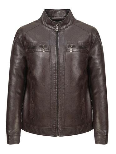 Кожаная куртка эко-кожа 100% П/А, цвет коричневый, арт. 07810203  - цена 2990 руб.  - магазин TOTOGROUP