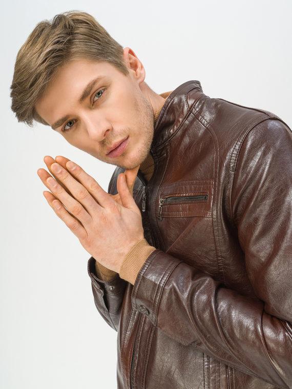 Кожаная куртка эко-кожа 100% П/А, цвет коричневый, арт. 07810204  - цена 3790 руб.  - магазин TOTOGROUP