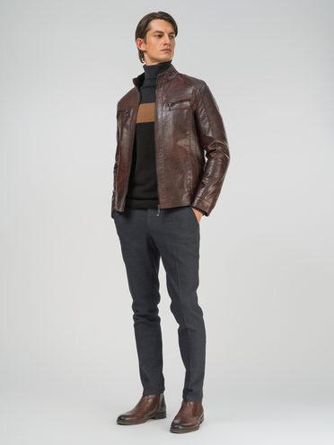 Кожаная куртка эко-кожа 100% П/А, цвет коричневый, арт. 07810208  - цена 2990 руб.  - магазин TOTOGROUP