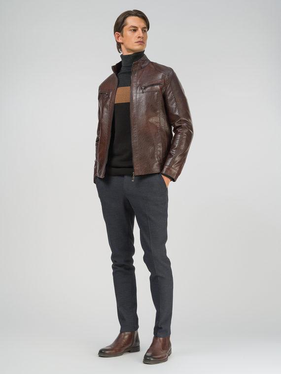 Кожаная куртка эко-кожа 100% П/А, цвет коричневый, арт. 07810208  - цена 3990 руб.  - магазин TOTOGROUP