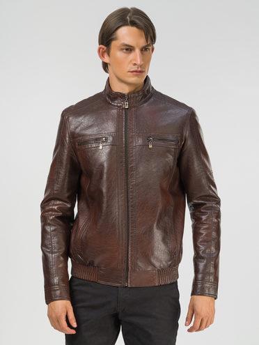 Кожаная куртка эко-кожа 100% П/А, цвет коричневый, арт. 07810210  - цена 2990 руб.  - магазин TOTOGROUP