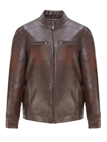 Кожаная куртка эко-кожа 100% П/А, цвет коричневый, арт. 07810213  - цена 3190 руб.  - магазин TOTOGROUP