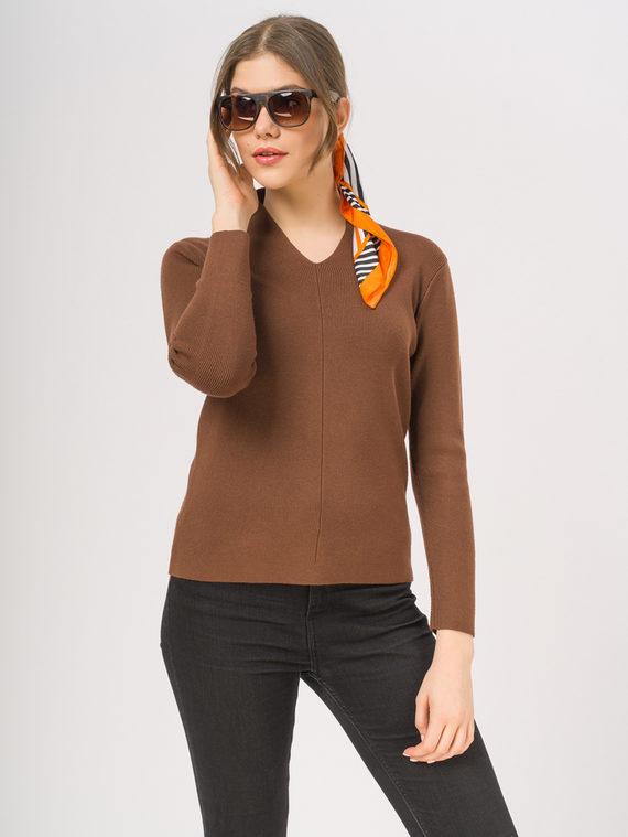 Джемпер 65% вискоза,35% нейлон, цвет коричневый, арт. 07810354  - цена 1190 руб.  - магазин TOTOGROUP