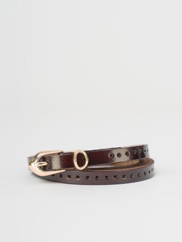Ремень кожа теленок, цвет коричневый, арт. 07810397  - цена 550 руб.  - магазин TOTOGROUP