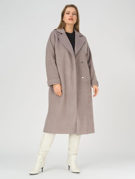 Текстильное пальто 35% шерсть, 65% полиэстер, цвет коричневый, арт. 07810740  - цена 6990 руб.  - магазин TOTOGROUP