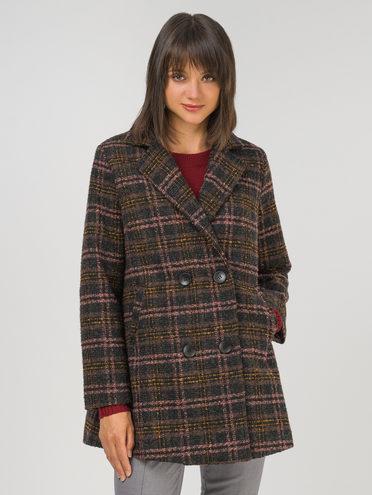 Текстильная куртка 35% шерсть, 65% полиэстер, цвет коричневый, арт. 07810746  - цена 6290 руб.  - магазин TOTOGROUP