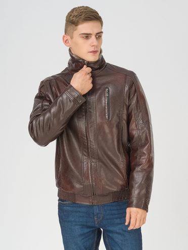 Кожаная куртка эко-кожа 100% П/А, цвет коричневый, арт. 07810862  - цена 4990 руб.  - магазин TOTOGROUP