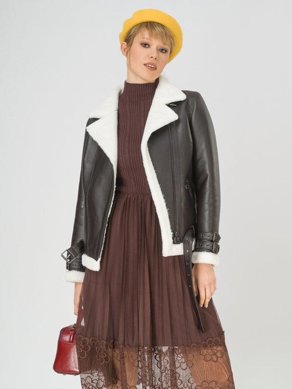 Дубленка эко-кожа 100% П/А, цвет коричневый, арт. 07810924  - цена 7990 руб.  - магазин TOTOGROUP