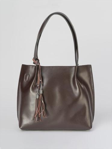 Сумка кожа теленок, цвет коричневый, арт. 07811034  - цена 4740 руб.  - магазин TOTOGROUP